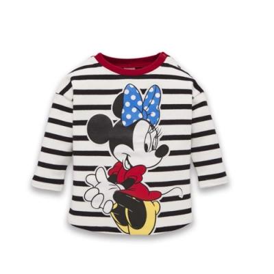Disney baby 米妮系列大圖長袖上衣-黑色(1號/2號)