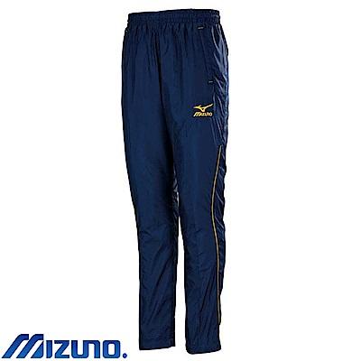 MIZUNO 美津濃 男平織運動套裝褲子 靛藍X金 32TD758513