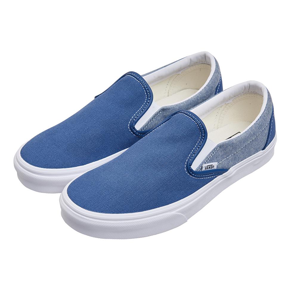 (男)VANS Classic Silp-On 拼接懶人鞋*藍色