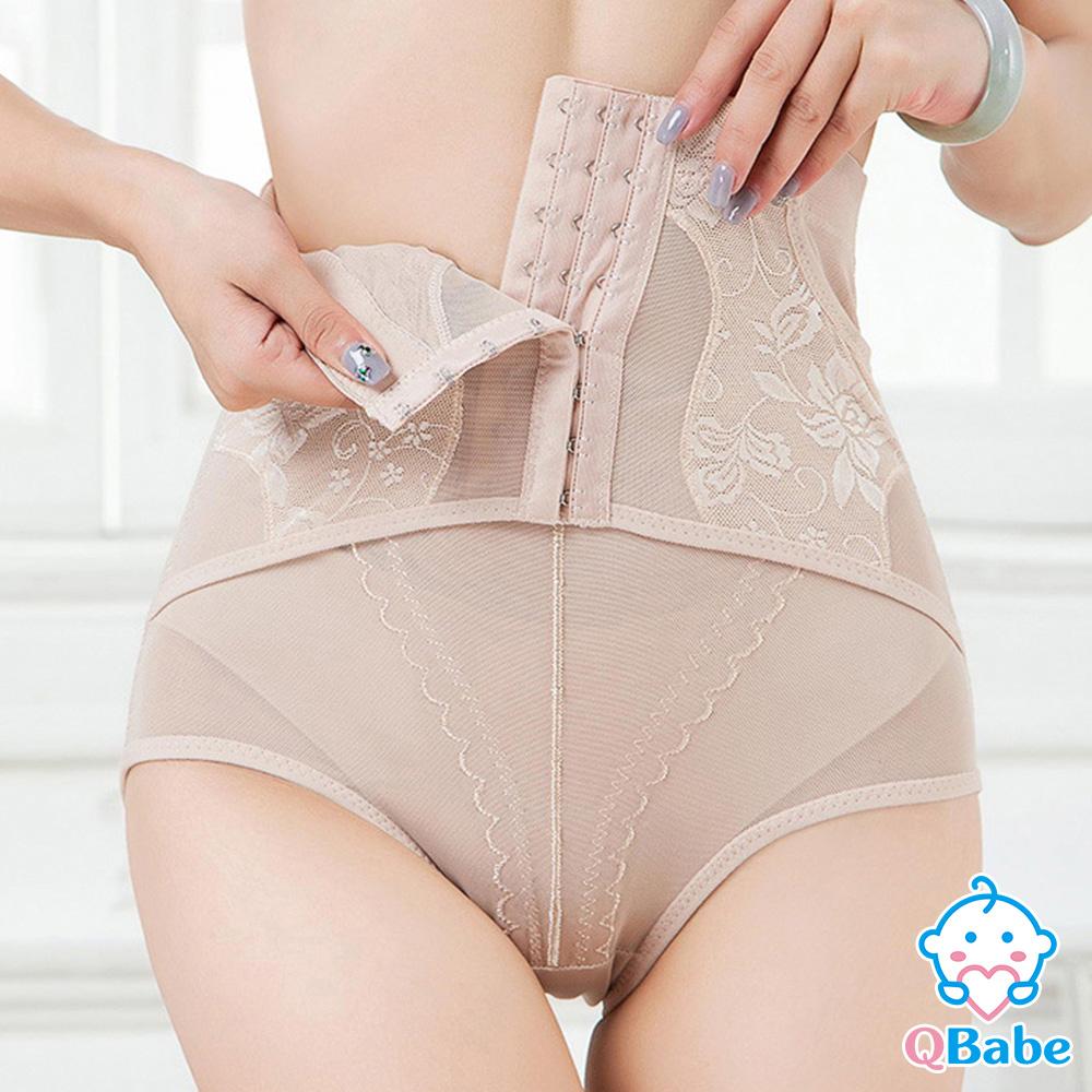 【QBabe】產後收腹提臀網紗美體塑身褲-膚色
