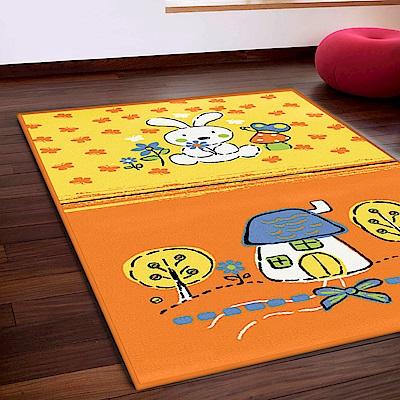 范登伯格 - 斑比  進口遊戲地毯 -  繽紛兔 (117 x 170cm)