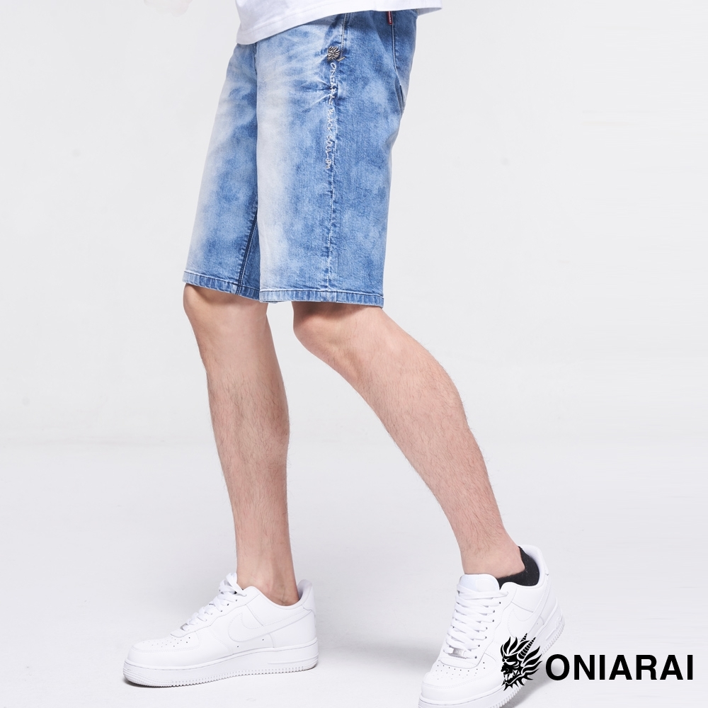 鬼洗 BLUE WAY – 天然激彈色短褲(淺藍)