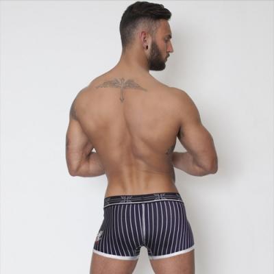 男內褲-直條紋男仕四角內褲-LOTUS(藍色)