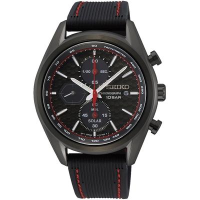 SEIKO精工 CS系列 喬治亞羅設計 太陽能三眼計時手錶-41.2mm(V176-0BH0C/SSC777P1)