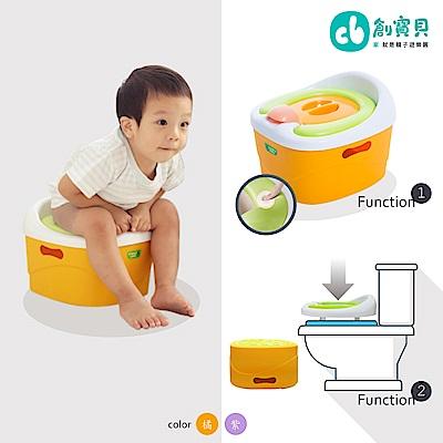 Creative Baby多功能三合一學習軟墊馬桶(Horseshoe)(橘/紫)