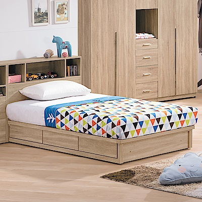 Bernice-盧斯卡3.5尺單人床組(抽屜床底)(不含床墊)