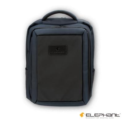 ELEPHANT 15吋多功能防水拉鍊筆電後背包(ELEBP004GY)