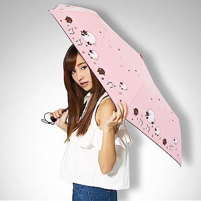 【雙龍牌】星空牧場抗UV降溫13度黑膠自動開收晴雨傘 B1059S