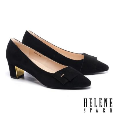 高跟鞋 HELENE SPARK 內斂時尚金屬點綴全真皮高跟鞋-黑