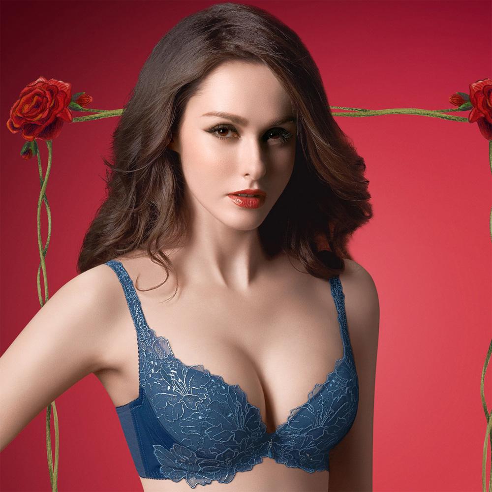 華歌爾-精緻義大利華麗款B-C罩杯內衣(寶石藍)