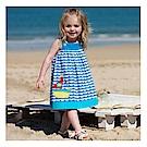 女童 中小童歐美海洋吊帶無袖洋裝