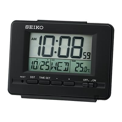 SEIKO精工 經典電子鐘 桌鐘(QHL078K)-黑