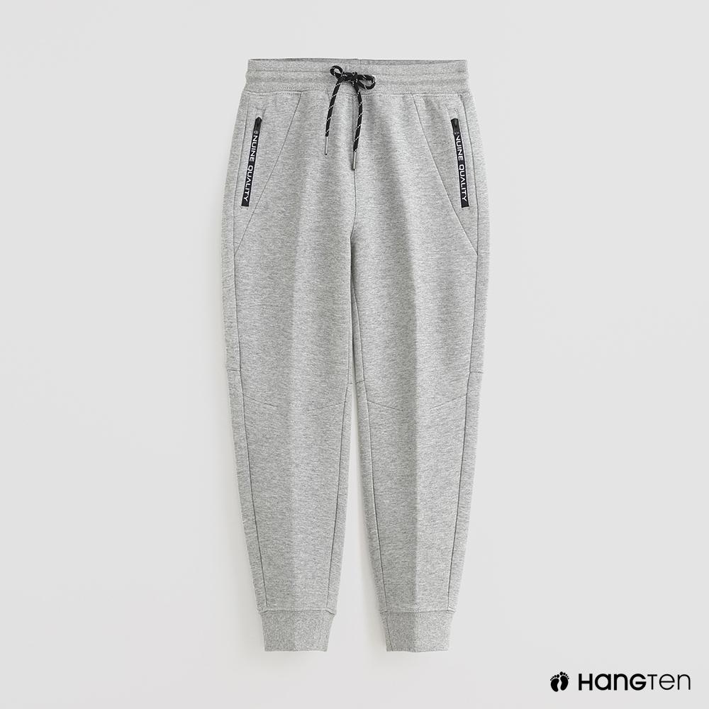 Hang Ten -童裝 - 腰部鬆緊綁帶運動長褲 - 灰