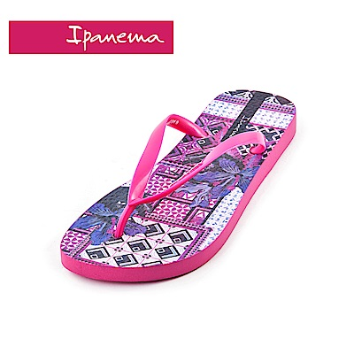 IPANEMA MEU BRASIL印花系列 熱帶花園 人字拖鞋(女款)-桃紅色
