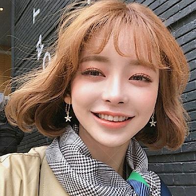 梨花HaNA 韓國925銀甜美妳的微笑花晶耳環