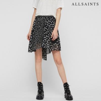 ALLSAINTS LEA SCATTER 印花不規則下擺短裙