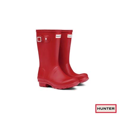 HUNTER - 童鞋 - Original大童低跟霧面短靴 - 紅