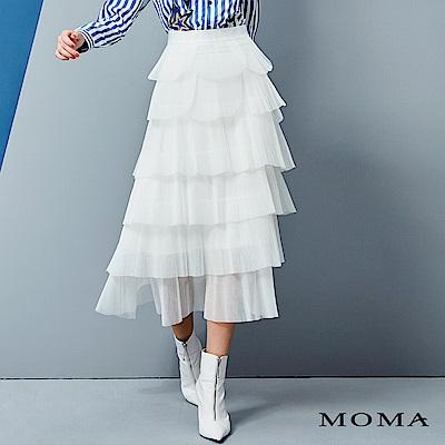 MOMA 壓褶網紗蛋糕裙_2色