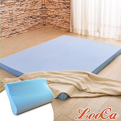(成家組)雙人-LooCa涼感睡眠8cm美國釋壓記憶床(搭贈3M吸濕排汗布套)