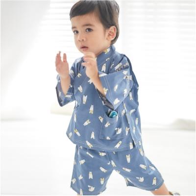 Baby童衣 男女寶寶棉麻日式和服套裝 和風浴衣夏季套裝 60157