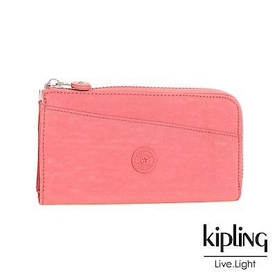 Kipling 長夾 豆沙霧粉素面-小