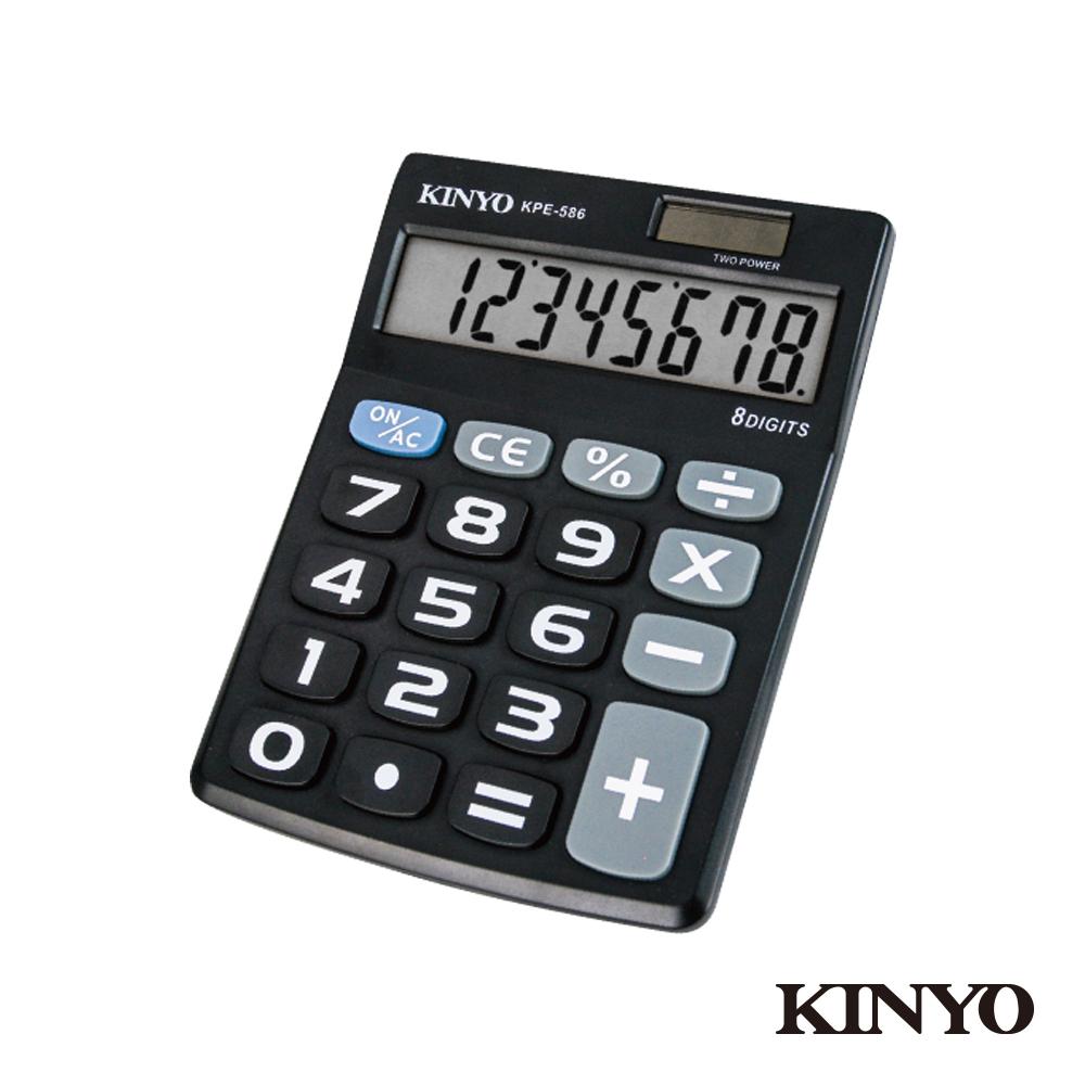 KINYO輕巧型大字鍵計算機(KPE-586) product image 1