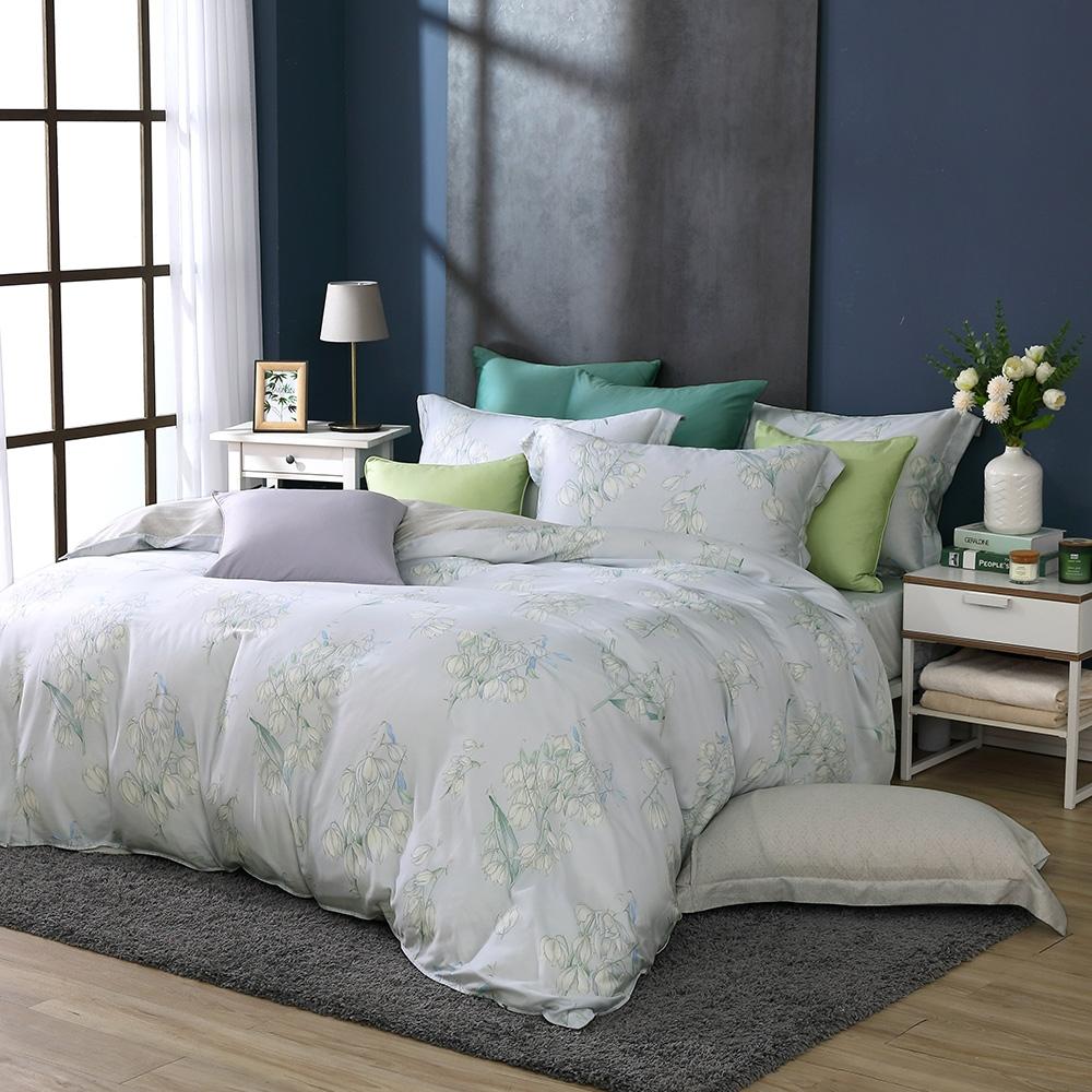 鴻宇 雙人特大床包薄被套組 天絲300織 莎漫 台灣製