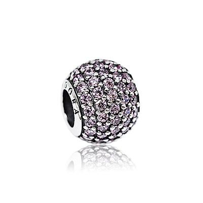 Pandora 潘朵拉 圓形粉鑽 純銀墜飾 串珠