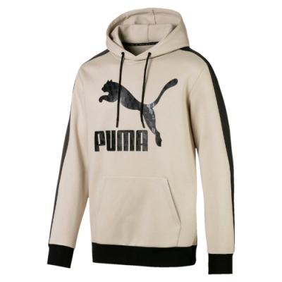 PUMA-男性流行系列Luxe長厚連帽T恤-雲粉灰-歐規