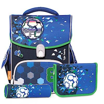 TigerFamily小學者超輕量護脊書包-8號足球(送文具袋+鉛筆盒)