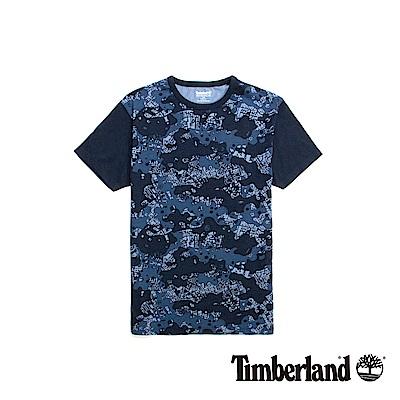 Timberland 男款藍色迷彩AOP短袖T恤