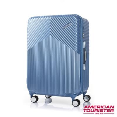 AT美國旅行者 25吋Air Ride 2/8開彈力滑輪PC硬殼行李箱(淡藍)