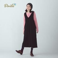 【Dailo】車站小熊背心-連身褲(二色)