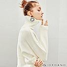 GIORDANO 女裝素色棉質高領落肩針織衫-16 皎雪