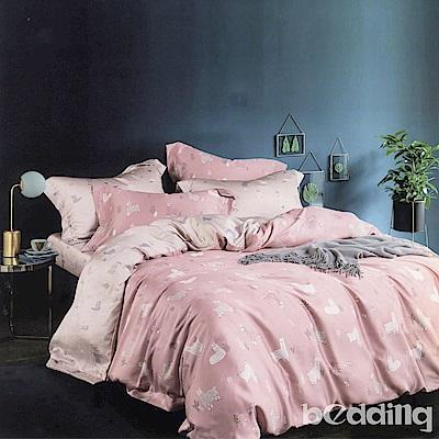 BEDDING-100%天絲萊賽爾-特大6x7薄床包枕套三件組-清新派-磚紅
