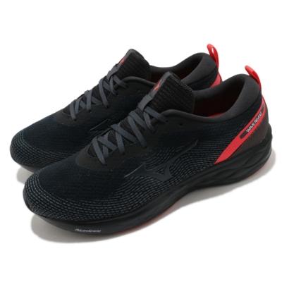Mizuno 慢跑鞋 Wave Revolt 寬楦 男鞋 美津濃 路跑 緩震 透氣 球鞋穿搭 黑 紅 J1GC208516