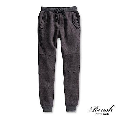 Roush 立體剪裁高磅數刷毛棉褲(2色)
