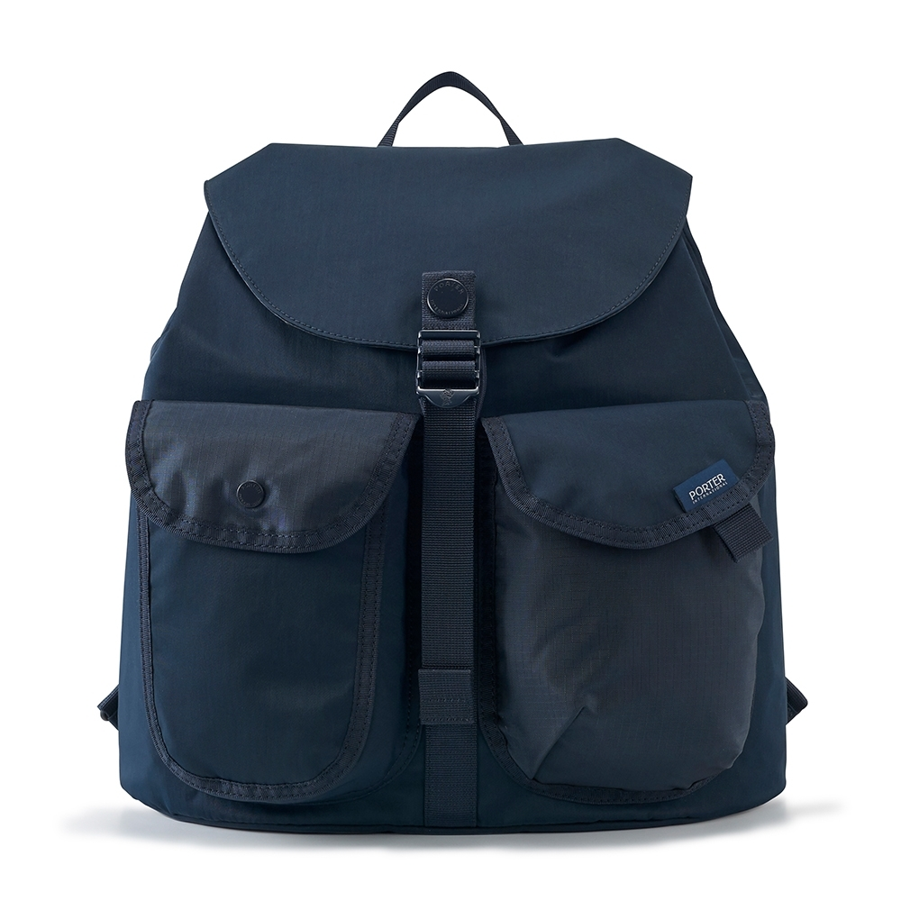 PORTER - 質感輕盈AIRY輕量百搭休閒後背包(L) - 深藍