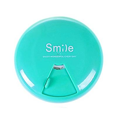 iSFun 微笑圓型 旋轉一周7格藥盒 4色可選