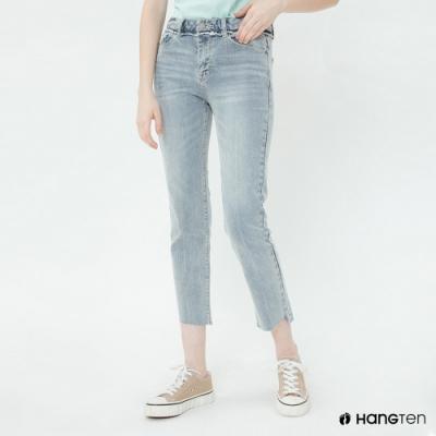 Hang Ten - 女裝 - 經典直筒牛仔七分褲 - 淺藍