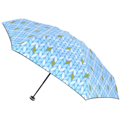 2mm 100%遮光 采漾印花黑膠降溫五折手開傘 (葉子)