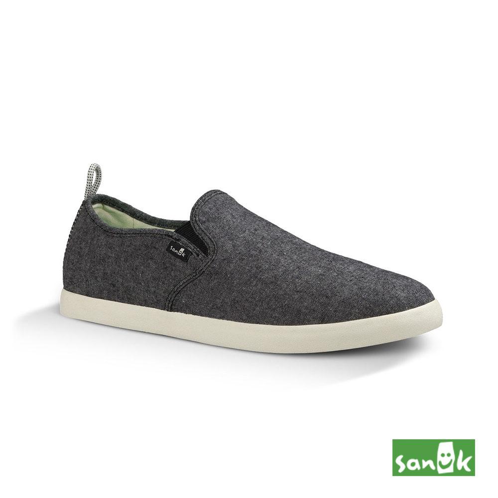 SANUK 素面拉環設計休閒鞋-男款(鐵灰色)