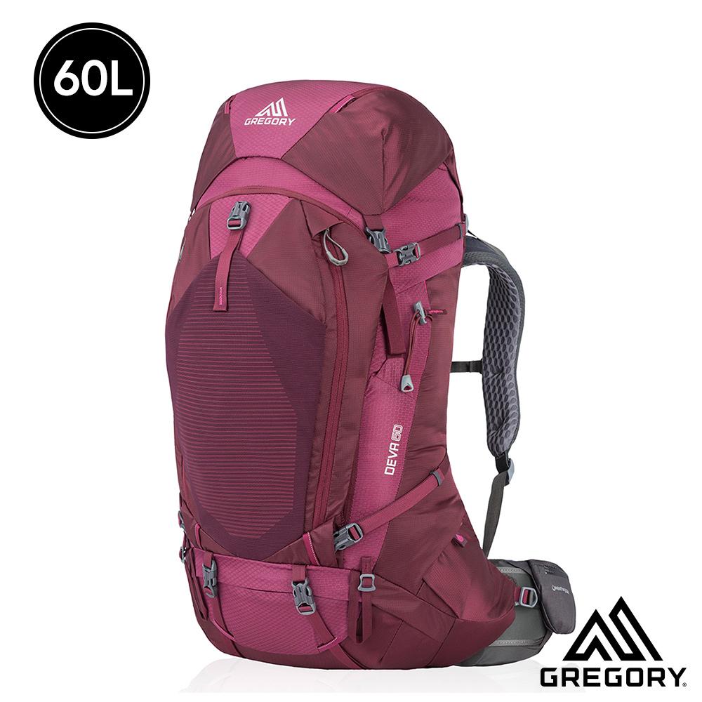 Gregory 女 60L DEVA登山背包 李子紅