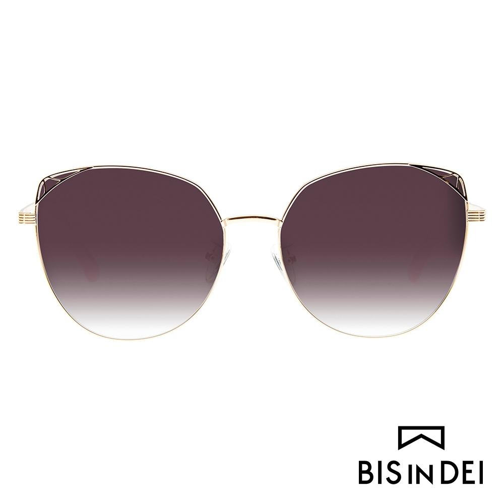 BIS IN DEI 貓眼蝴蝶框太陽眼鏡-深棕