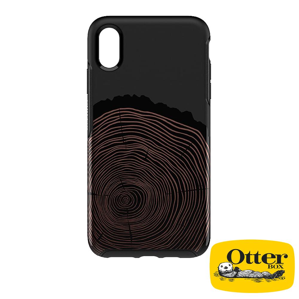 OtterBox iPhoneXS Max炫彩幾何彩繪系列保護殼-時光木輪