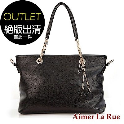 Aimer La Rue OL穿搭流行肩背側背包(黑色)(絕版出清)