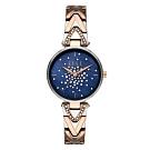 ELLE 巴黎之夜系列貝殼面腕錶-藍(ELL21042)/33mm