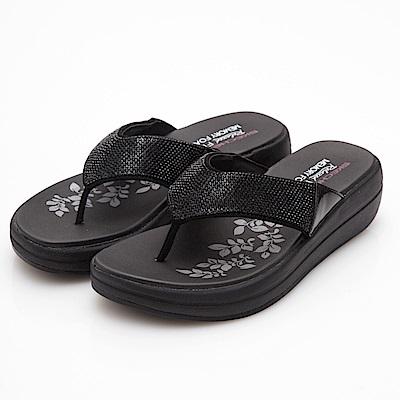 SKECHERS (女) 時尚休閒系列UPGRADES 拖鞋-41055BBK