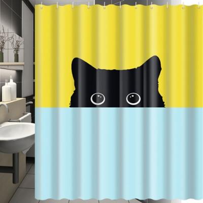 180x180cm 躲貓貓防潑水浴簾(一個)