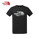 The North Face北面男款黑色優勝美地印花短袖T恤|3V4QJK3